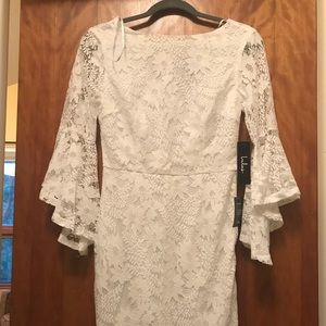 ALLURE 'EM IN WHITE LACE BELL SLEEVE